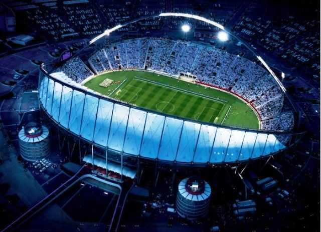 Khalifa International Stadium, Al-Rayyan. Kapacitet: 68 030